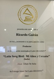 Latin Grammy 2003 Latin Song Bird India